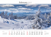 2015 Calendar. February. — Stok fotoğraf
