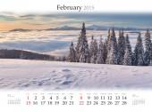 2015 Calendar. February. — Stock fotografie