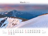 Calendar 2015 . March. — Stock Photo