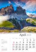 Calendar 2015. April. — Fotografia Stock