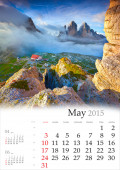 Calendar 2015. May. — Stock Photo