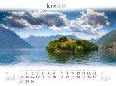 2015 Calendar. June. — Stock Photo