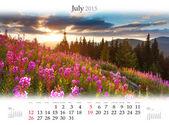 Calendar 2015. July — Stock Photo