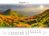 Kalender 2015. Augustus — Stockfoto