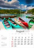 2015 Calendar. August. — Foto de Stock