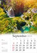 Calendario 2015. Septiembre. — Foto de Stock