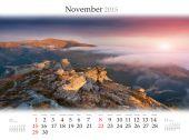 2015 Calendar. November. — Stock Photo