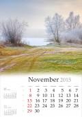 2015 Calendar. November. — Foto de Stock