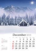 2015 Calendar. Desember. — Stock Photo