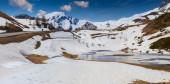 Lake on the pass Col De Vars — Stock Photo