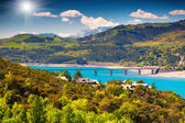 Lake Serre-Poncon, Alps, France. — Stock Photo