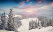 Mountains before the snowstorm — Stockfoto