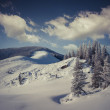 Hoarfrost and snow in mountains — Stock Photo #59395423