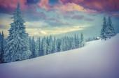 Paesaggio invernale in montagna. — Foto Stock