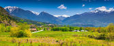 Panorama of the French Alps  — Stockfoto