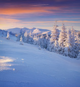 Winter in mountains. — Stock Photo