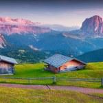 Colorful sunrise on the Sassolungo — Stock Photo #62769085