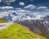 View of the Pass Le Lautaret.  — Stock Photo