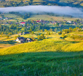 Morning in the mountain village. — Stock Photo