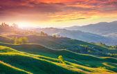 Dramatic summer sunrise — Foto de Stock