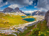 Lakes Del Piani, in National Park Tre Cime di Lavaredo — Stock Photo