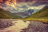 Landscape in the Caucasus mountains. — Stock Photo
