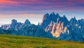 Panorama of the Monte Piana mountain range — Stock Photo