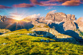 Sunset on the Paternkofel mountain range — Stock Photo