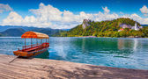 Lake Bled in the Julian Alps — Stock Photo