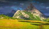 View of the Sass De Stria mountain range — Stock Photo
