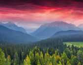 Sunrise in the italian Alps — Stock Photo