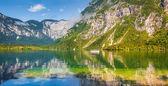 Morning on the Bohinj lake — Stock Photo