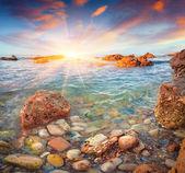 Sunrise on the Tyrrhenian sea — Stock Photo