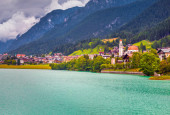 View of the Auronzo di Cadore — Stock Photo