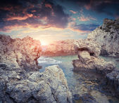 Small lagoon in the  cape Milazzo — Stock Photo