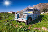 Old offroader on the old Sicilian farm — Stock Photo