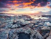 Spring sunrise on the Passero cape — Stock Photo