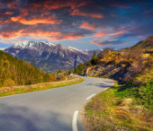 Sunset on the Col d'Isoard Pass — Stock Photo