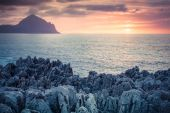 Sunset on the Monte Cofano cape — Stock Photo