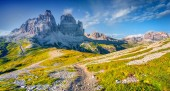 Panorama of the National Park Tre Cime di Lavaredo — Stock Photo