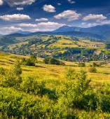 Landscape in the mountains village — Stock Photo