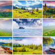 9 colorful summer landscapes — Stock Photo #69227697