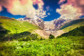 Morning in the Caucasus mountain — Stock Photo