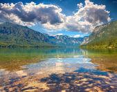 Summer morning on the Bohinj lake — Stock Photo
