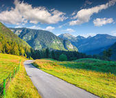 Morning in the Triglav national park — Stock Photo