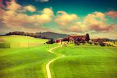 Morning on countryside in Tuscany — Stock Photo