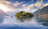 Island Comacina on Lake Como — Stock Photo