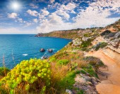 Morning in the harbor and cape Milazzo — Stock Photo