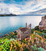 Old ruins at cape Milazzo — Stock Photo