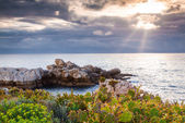 Spring sunset on the cape Milazzo — Stock Photo